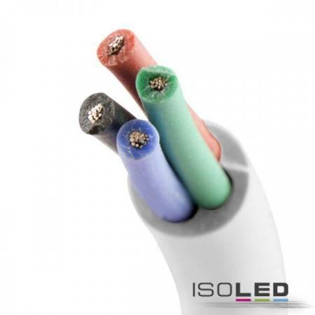 Kabel RGB Meterware 4-polig 0.50mm² SIHF Silikonmantel AWG20