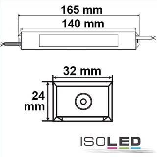 LED Trafo 12V/DC, 0-30W, IP66