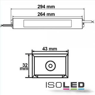 LED Trafo 24V/DC, 0-100W, IP66