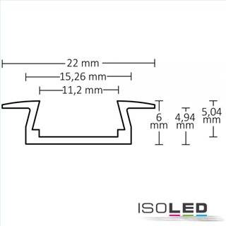 LED Einbauprofil MINI-EB10, eloxiert L: 2000mm