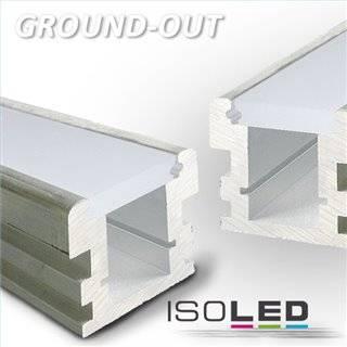 LED Montageprofil GROUND-OUT10, befahrbar, Alu Natur L: 2000mm