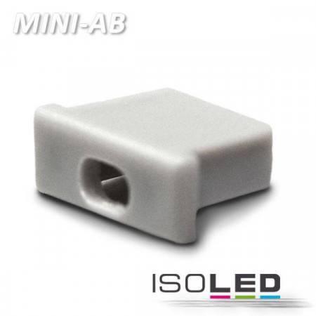 Endkappe für Profil MINI-AB10 silber, mit Kabeldurchführung