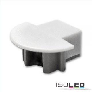 Endkappe für Profil MINI-EB10 silber, inkl. Kabeldurchführung