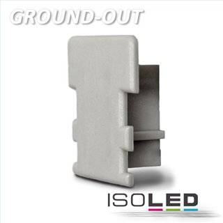 Endkappe für Profil GROUND-OUT10 silber