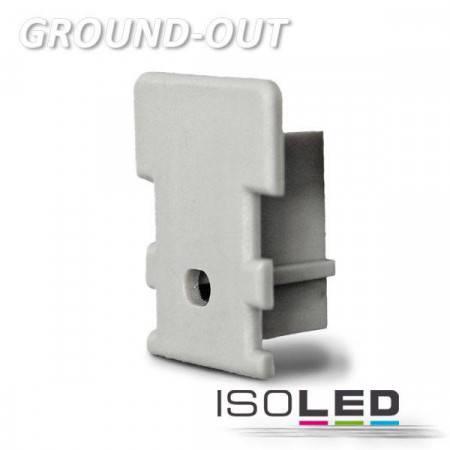 Endkappe für Profil GROUND-OUT10 silber, inkl. Kabeldurchführung