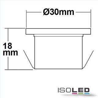 LED Spot MiniAMP 12V oder 700mA, 3W, 100°, warmweiß