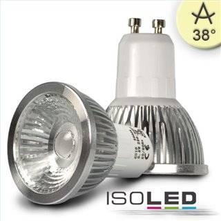 GU10 LED Strahler 5,5W COB, 38°, warmweiß, dimmbar