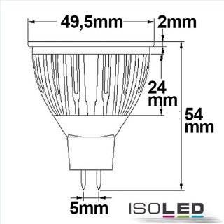 MR16 LED Strahler 5,5W COB, 38°, kaltweiß, dimmbar