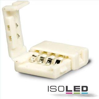 Clip-Verbinder (max. 5A) für 4-pol. IP20 Flexstripes mit Breite 10mm, Pitch-Abstand 12mm