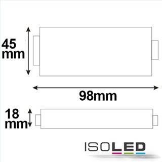 Mini RGB (PWM) Verstärker, 3 Kanal, 12-24V DC, 3x4A