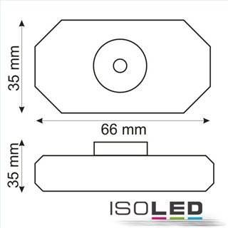 LED Dreh-Controller (Dimmer) weiß, 2A, max. 48 Watt, Rundstecker Anschluss