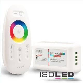 Wireless Touch RGB PWM-Controller mit Funk-Fernbedienung 2.4GHz, 12-24V DC 3x4A