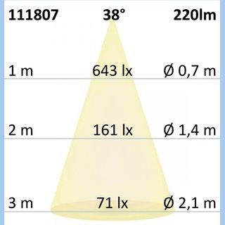 MR11 LED Strahler 3W COB, 38°, warmweiß