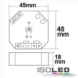 Universal-Push Dimmer Eltako für dimmbare 230V Leuchtmittel/Trafos, 400VA