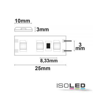 LED SIL830-Flexband, 12V, 9,6W, IP66, warmweiß