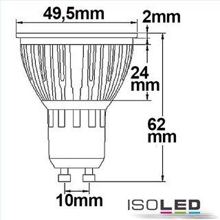 GU10 LED Strahler 5,5W COB, 70°, warmweiß, dimmbar