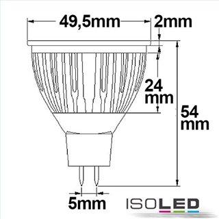 MR16 LED Strahler 5,5W COB, 70°, warmweiß, dimmbar