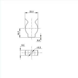 Montageclip chrom für T8 Röhre