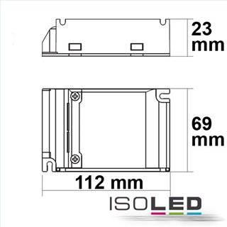 LED MULTI Trafo 12V/24V/350mA/500mA/700mA, Push + 1-10V dimmbar, SELV
