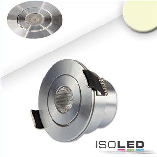 LED Einbaustrahler, 3W, 45°, rund, Alu-geb., warmweiß
