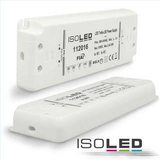 LED Trafo 12V/DC, 0-30W, ultraflach, SELV