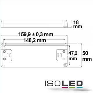 LED Trafo 24V/DC, 0-30W, ultraflach, SELV