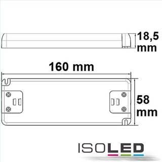 LED Trafo 12V/DC, 0-50W, ultraflach, SELV
