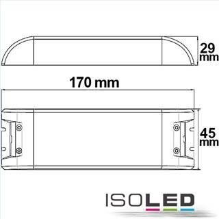 LED Trafo 12V/DC, 0-70W, SELV