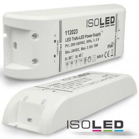 LED Trafo 24V/DC, 0-75W, SELV