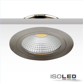 LED Möbel-Einbaustrahler COB mit Reflektor, 3W, 60°, nickel geb., warmweiß