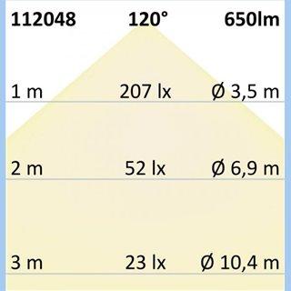 LED Einbaustrahler, silber, 8W SMD, 120°, rund, warmweiß, dimmbar