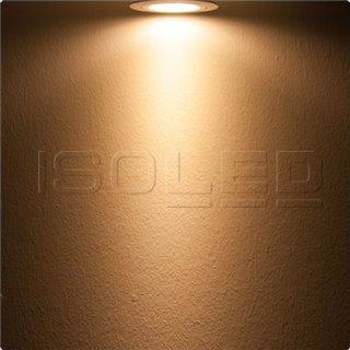 LED Einbaustrahler, weiß, 8W, 72°, rund, warmweiß, dimmbar
