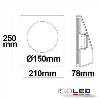 Gips-Wand-Einbauleuchte, GU10, kleine Öffnung rund