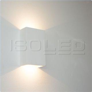 LED Gips-Wandleuchte 2x3W, UP&DOWN, eckig, warmweiß