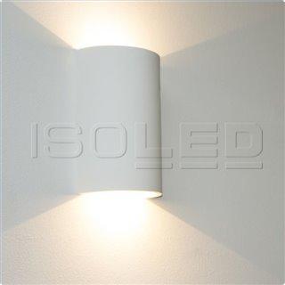 LED Gips-Wandleuchte 2x3W, UP&DOWN, rund, warmweiß