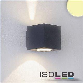 LED Wandleuchte Up&Down 2x3W CREE, IP54, anthrazit, warmweiß