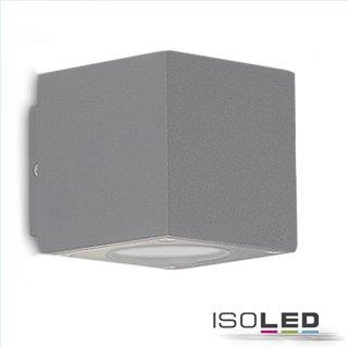 LED Wandleuchte Up&Down 2x3W CREE, IP54, silber, warmweiß