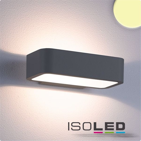 LED Wandleuchte Up&Down 1x7W CREE, IP54, anthrazit, warmweiß
