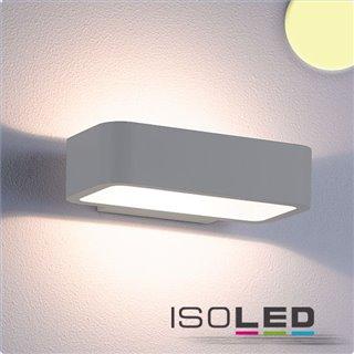 LED Wandleuchte Up&Down 1x7W CREE, IP54, silber, warmweiß