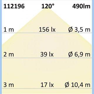 LED Wandleuchte Up&Down 4x3W CREE, IP54, silber, warmweiß