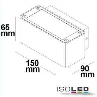 LED Wandleuchte Up&Down 4x3W CREE, IP54, weiß, warmweiß