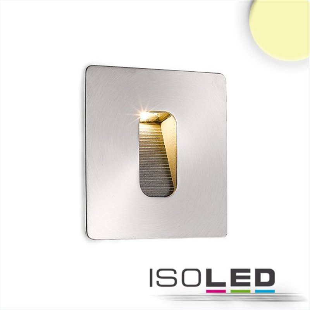LED Wandeinbauleuchte eckig, IP65, 1x3W CREE, warmweiß, inkl. Einputzdose