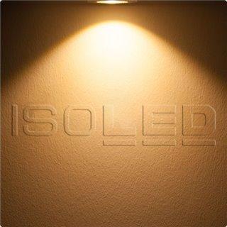 LED Bodeneinbaustrahler, rund Edelstahl, IP67, 7W COB, 90°, warmweiß