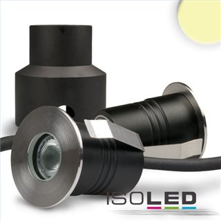 LED Einbaustrahler, Edelstahl , 2W, 60°, IP67, 12V AC/DC, warmweiß