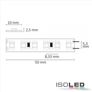 LED SIL830-Flexband, 24V, 9,6W, IP20, warmweiß