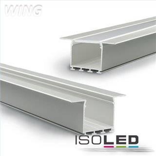 LED Einbauprofil WING20 Flansch gerade, eloxiert L: 2000mm