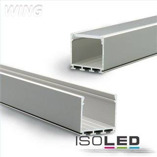 LED Aufbauprofil WING20, eloxiert L: 2000mm