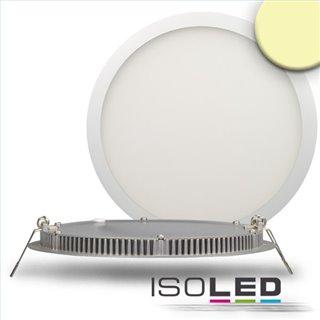 LED Downlight, 18W, ultra flach, rund, weiß, warmweiß