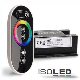 Wireless Touch RGB PWM-Controller mit Funk-Fernbedienung Flat, 12-24V DC 3x6A
