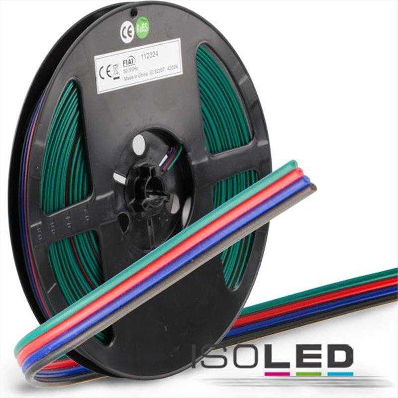 Kabel RGB 10m Rolle 4-polig 0.50mm² H03VH-H AWG20